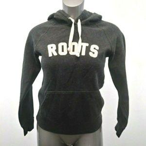 Roots Canada Hoodie Women's XXS Gray hoodie